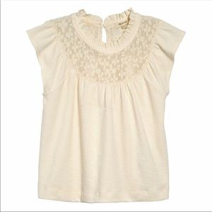 MADEWELL Lace Inset Superlight Jacquard Top